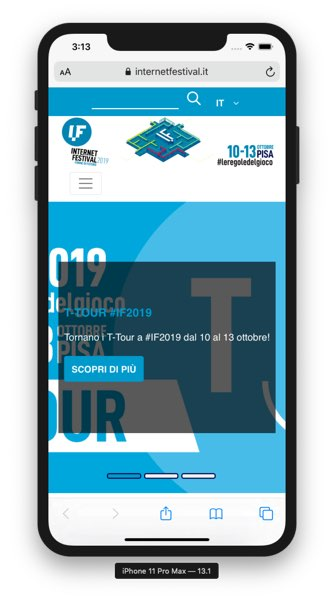 Il sito di Internet Festival Pisa