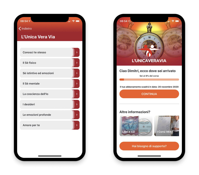 L'applicazione per iOS di L'Unica Vera Via